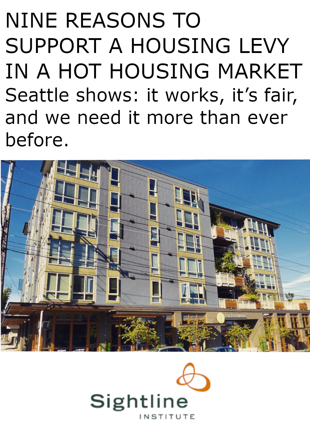 Support Levy in Hot Housing Market